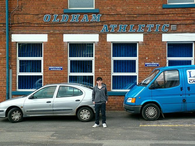 Me outside Boundary Park