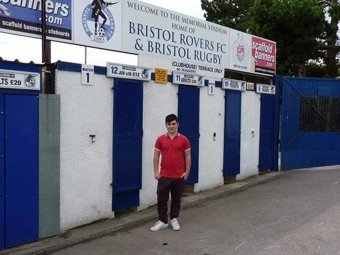Me outside The Memorial Stadium