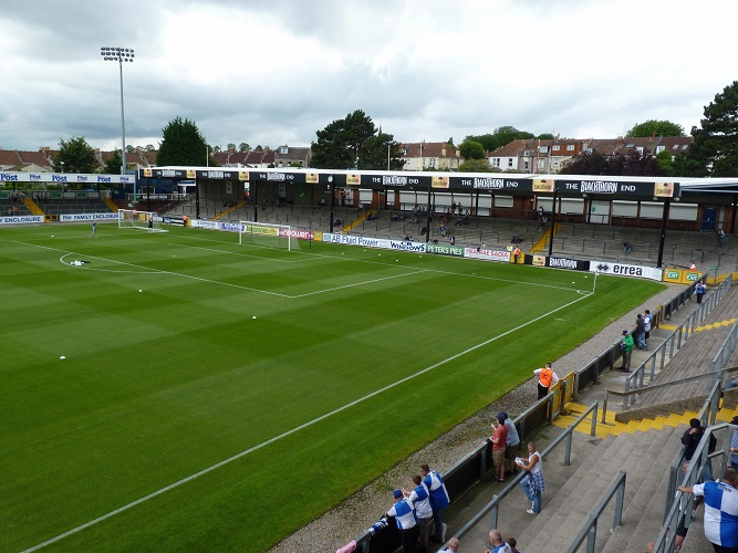 Bristol Rovers FC - The Memorial Stadium - The Blackthorn Terrace