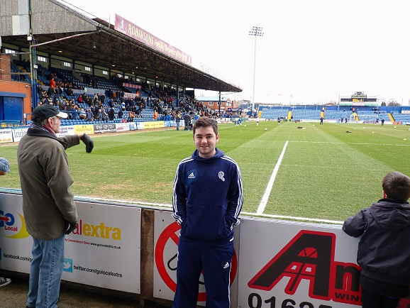 Me inside Edgeley Park