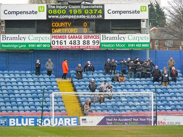 Dartford fans participating in The Poznan