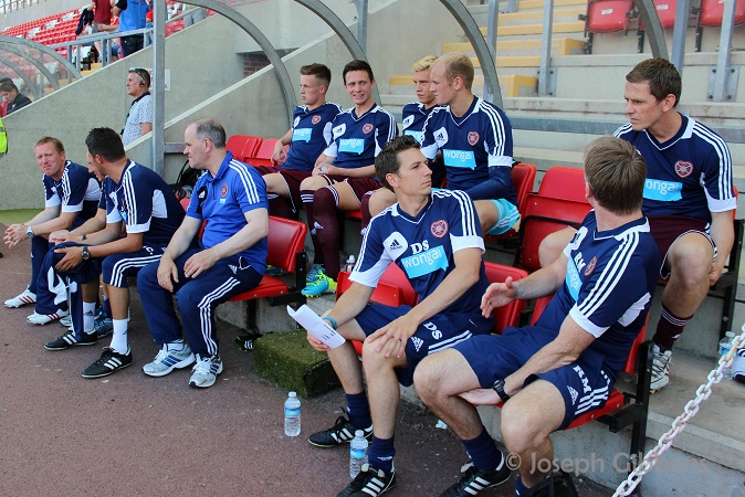 The Hearts bench