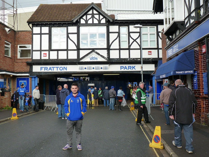 Me outside Fratton Park
