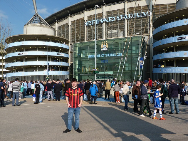 Me outside The Etihad