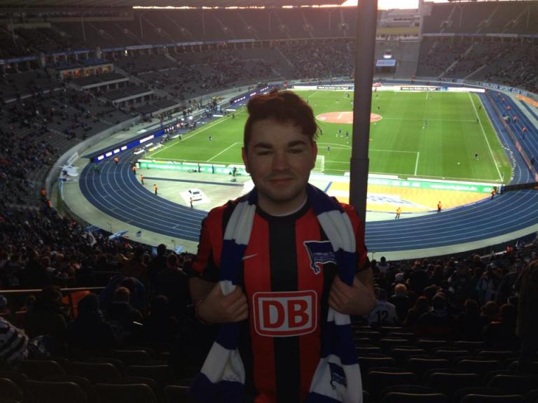Me inside the Olympiastadion