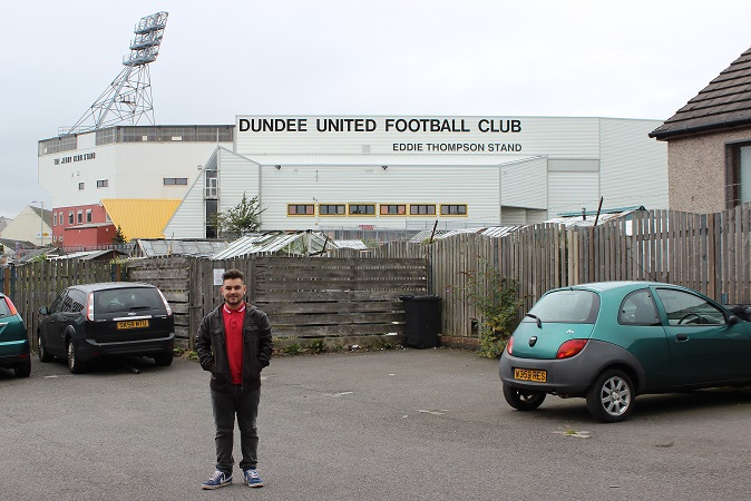 Me outside Tannadice
