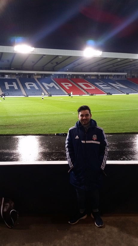 Me inside Hampden Park