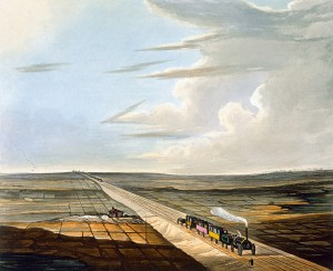 View_of_the_Railway_across_Chat_Moss,_from_Bury's_Liverpool_and_Manchester_Railway,_1831_-_artfinder_267570_full_1024x836