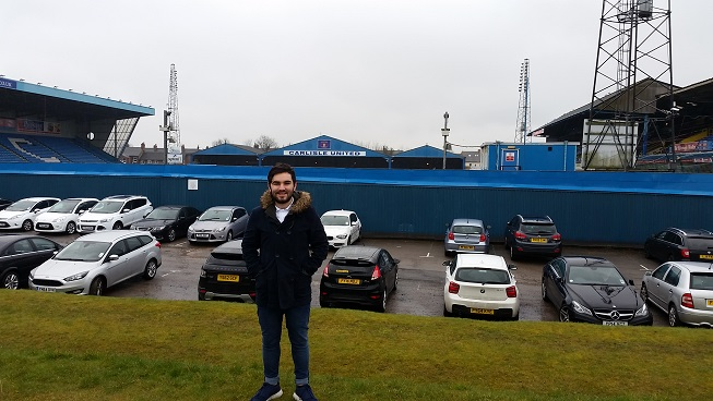 Me outside Brunton Park
