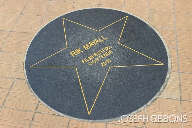 A plaque from when Rik Mayall visited