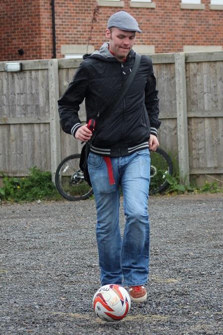 Matt acting as ball boy