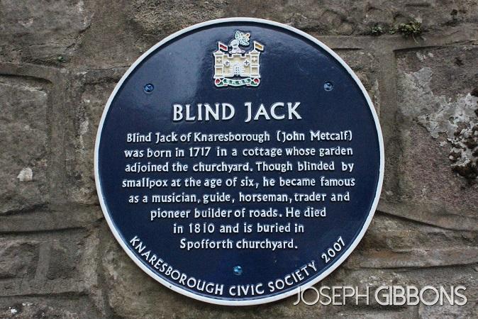Blind Jack's plaque