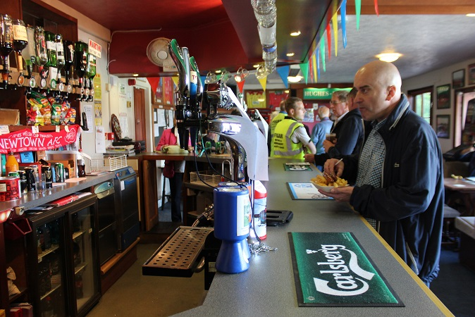The bar pre-match