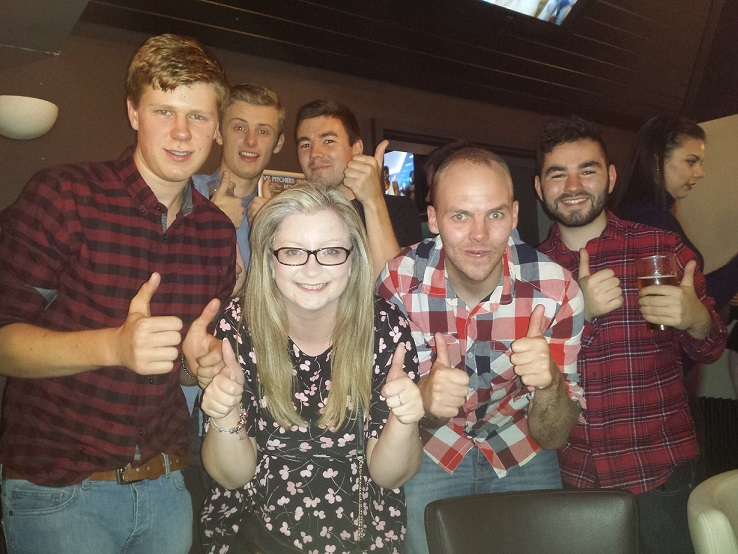 And finally... a squad photo. Tom, Laura, Craig, Joe, Matt and I... I don't know where Aaron was!
