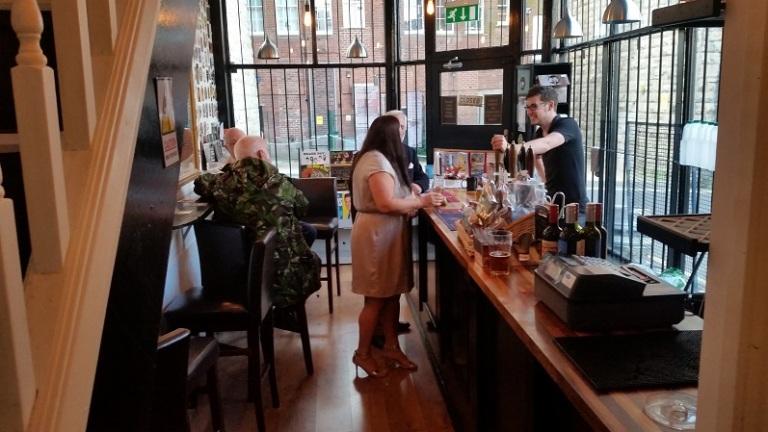 David manning the bar