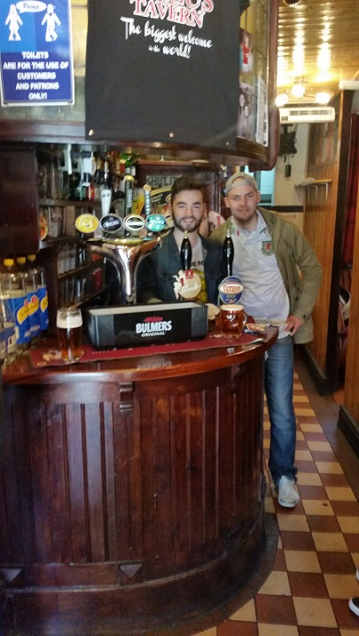 Behind the so called smallest bar in Europe