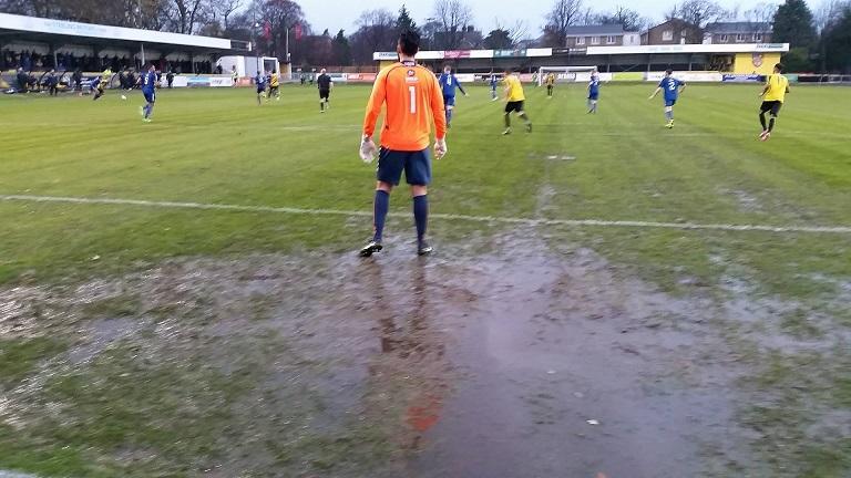 Hakan Burton in goal for Curzon