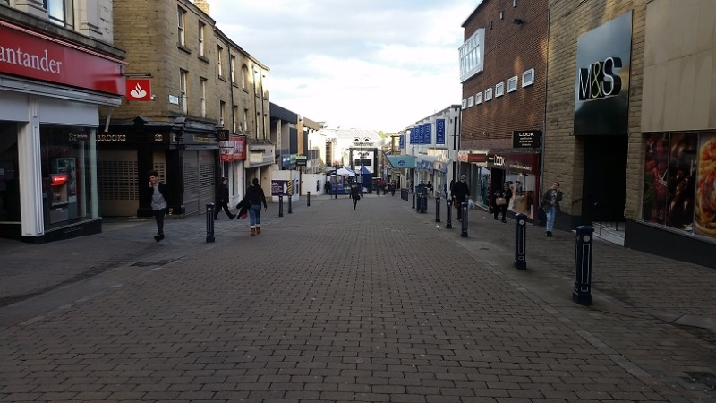 Walking through Huddersfield