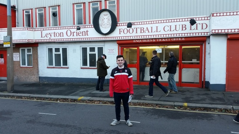 Me outside Brisbane Road
