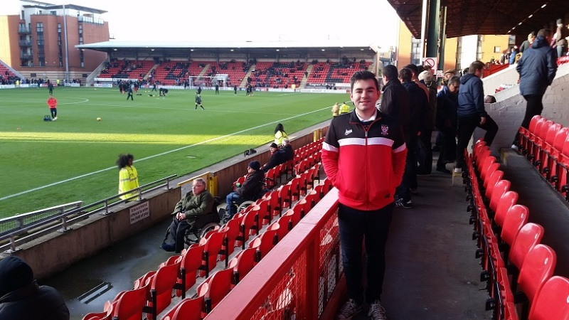 Me inside Brisbane Road