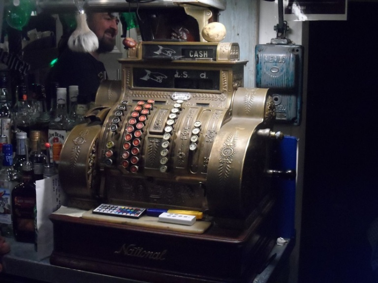 The till in Percy's Bar