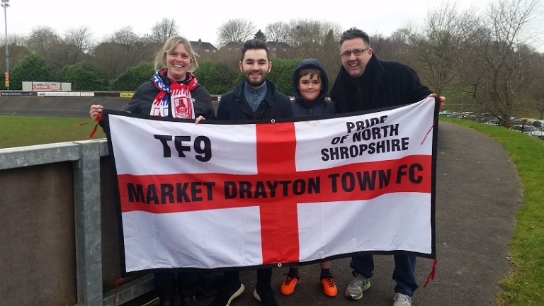 Me with the Market Drayton Town ultras
