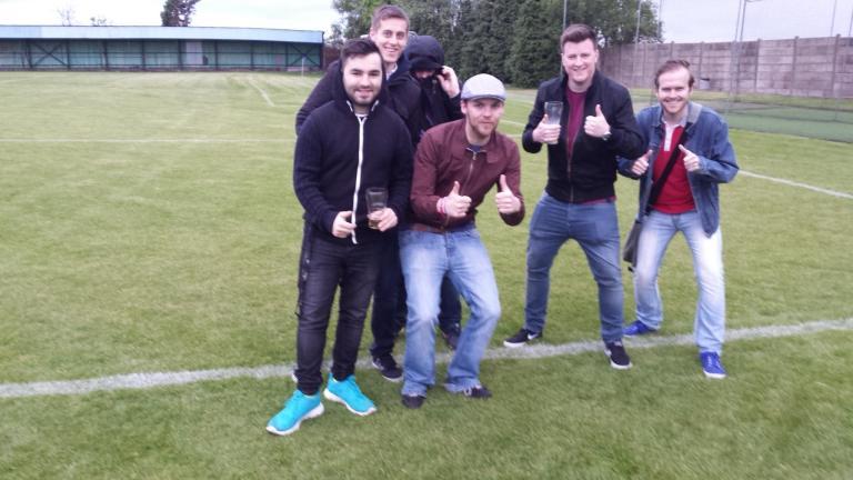 Me, Ollie, Football Spoon, Matt, Aaron and George