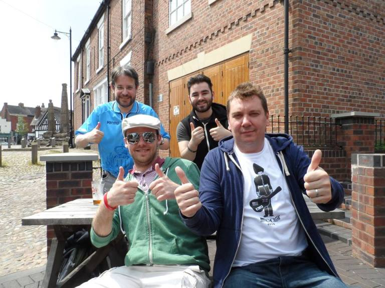 David, Matt, Emil and I