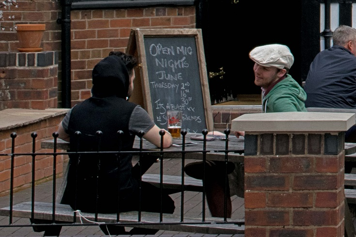 Matt and I in the Lower Chequer beer garden